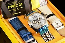Invicta Lupah Mother Of Dial SS Bracelet W/ 2 Croco Embosed Leather Straps Watch