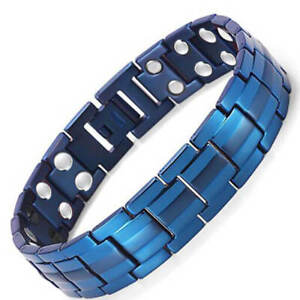 New Gorgeous Blue magnetic therapy bracelet arthritis pain relief energy stress