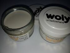 Clearance 2 x Woly Shoe Cream CASHMERE Polish Restoration Condition Leather Bag