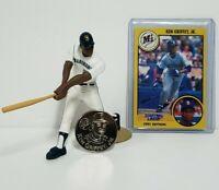 KEN GRIFFEY JR. Seattle Mariners MLB Starting Lineup SLU 1991 Figure, Card, Coin