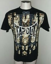 TAPOUT Men's Short Sleeve Shirt Size Medium Black/Brown T-Shirt