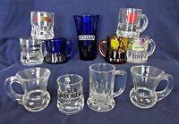 Shot Glasses Glass Miniature Beer Mug Stein, Lot of 11, Vintage Cobalt Souvenir