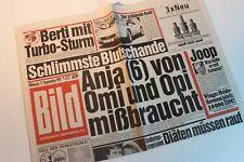 BILDzeitung 11.09.1991 September 11.9.1991 Geschenk 29. 30. 31. 32. Geburtstag