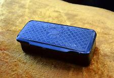 Antique lacquer snuff box - Regency snuff box silver inlaid