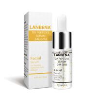 LANBENA Six Peptides Serum 24K Gold Anti-Aging Vitamin E Serum Anti-Wrinkle New
