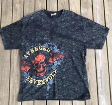 Avenged Sevenfold All Over Print Skull Men's Medium T Shirt Hanes Heavyweight L