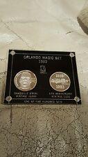 .999 SILVER 2 COIN SET SHAQUILLE SHAQ ORLANDO MAGIC ENVIROMINT