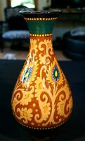 Beautiful Early Large Gouda Tessel Vase