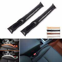 2Pcs Leather car Auto Seat Pad Gap Space Filler Soft Holster Blocker