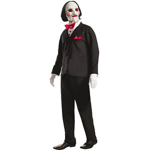 SAW Movie Jigsaw Billy the Puppet Costume and Mask | Rubie's 810980