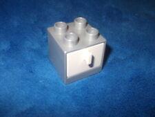 LEGO DUPLO PUPPENHAUS  1 X SCHRANK SILBER FARBIG Weiss mit SCHUBLADE zum ÖFFNEN