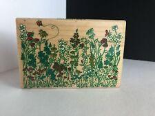 Flower Garden Rubber Stamp Black Eyed Susan Daisy Poppy Bluebells Inkadinkado