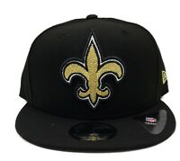 New Orleans Saints New Era 9Fifty XL Threads Logo Adjustable Snapback Hat Cap