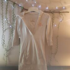 Hollister Women/Juniors Sweatshirt Dress Tunic Hoodie with Pocket Tan Medium