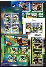 Rugby lot de 10 séries oblitérés en feuillet