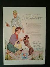1954 Pepsi-Cola Bottle Cap Soda-Pop Black Poodle Dog Beach Color Trade Promo AD