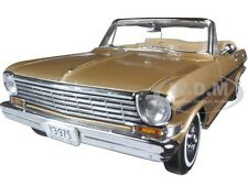 1963 CHEVROLET NOVA OPEN CONVERTIBLE SADDLE TAN 1/18 MODEL CAR BY SUNSTAR 3975