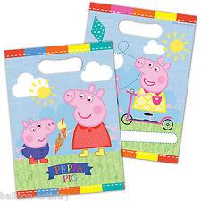 8 Peppa Pig diversión del verano Niños Fiesta De Cumpleaños Bolsas De Regalo Botín plástico favor