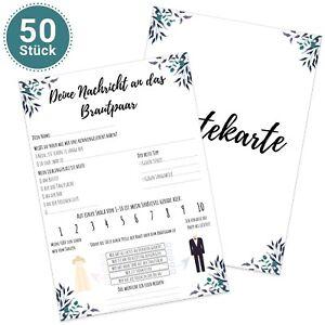 50 Stück Design Gästekarten DIN A5 Alternative zum Gästebuch Gästebuchkarten