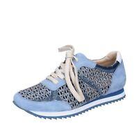 Chaussures Femme FEMME PLUS 38 Ue Baskets Bleu en Daim Strass BJ885-38