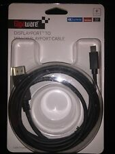 Gigaware 6-Foot DisplayPort to Mini DisplayPort Cable (Male to Male).