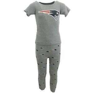 New England Patriots NFL Youth Kid Size 2 Piece Pajama Pants & Long Sleeve Shirt