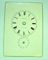 Cadran enamel émail dial carriage clock pendule voyage St Petersburg Uhr