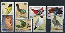 Rwanda 1979 MNH Birds 8v Set Sunbirds Weavers Eagles Owls Stamps