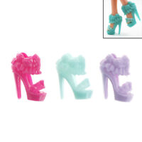 10 Pairs  Shoes Skirt Design Doll Shoes  Dolls Accessories Gift HICA