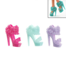 10 Pairs  Shoes Skirt Design Doll Shoes  Dolls Accessories Gift*-*