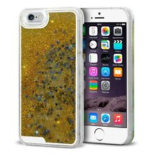Coque arrière Liquid Diamonds Crystal Paillettes Pour iPhone 6 (4.7) Or