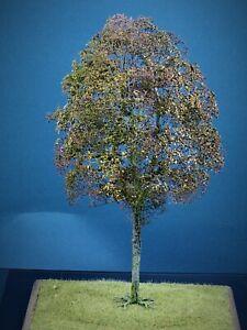 Diorama Zubehör, 1 Modellbaum Buche wenig Herbst Laub bemoost, 35 cm hoch