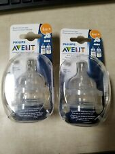 Avent 4-Pack Fast Flow Anti-Colic Bottle Nipples 6m+...