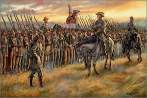 Maritato Signed Civil War Limited Edition Print Almost Home Battle of Franklin