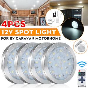 4x 12V Interior LED Spot Light Ceiling Cabinet Downlight Camper Caravan Van Boat