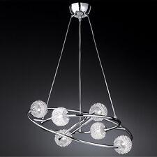 WOFI lámpara colgante Presto CROMADO 6 luces Malla de Alambre Ø73 cm 168 vatios