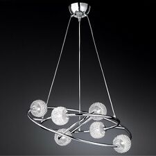 Wofi lampes suspendues Presto CHROME 6 treillis métallique Ø73 cm 168 Watt 2220