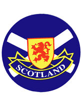Scottish Car Bumper Window Round Sticker Decal Vinyl Scotland Lion Saltire Flag