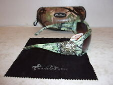 Montana West Sunglasses w/ UV400 Protection - Green Camo Rhinestone Concho - NEW
