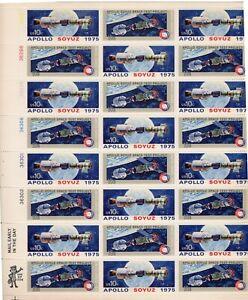 1975 USPS Apollo-Soyuz Space Mission (24) 10c Full Sheet ~ Scott #1569-70 ~ Mint