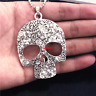 Skull Necklace,Skull Pendant,Skeleton Necklace,Skull Jewelry,Halloween Necklace