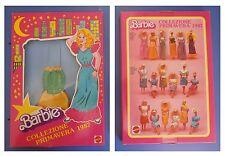 Barbie, collezione primavera 1987, abito raso e lamè, vestito verde e giallo