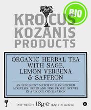 ORGANIC HERBAL TEA WITH SAGE LEMON, VERBENA & GREEK RED SAFFRON -10 Teabags 18g