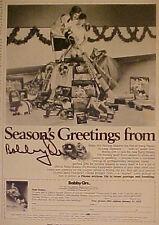 1971 Bobby Orr Boston Bruins Hockey Equipment Oddball Sports Memorabilia Art Ad