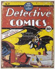Detective Comics Cover 10¢ No.27 retro vtg The Batman TIN SIGN metal poster 1967