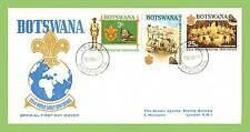 Botswana 1969 Scout Mundial Conferencia fijados sobre primer día cubierta