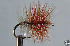 10 x Mouche de peche Sèche Tricolore Claire H10/12/14/16/18 mosca fly fishing