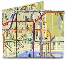 Dynomighty NYC New York City SUBWAY MAP bifold MIGHTY WALLET tyvek metro card