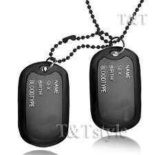 T&T Black Double DOG TAG (DT41)