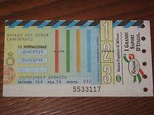 INTER JUVENTUS BIGLIETTO TICKET 1994/95 SERIE A
